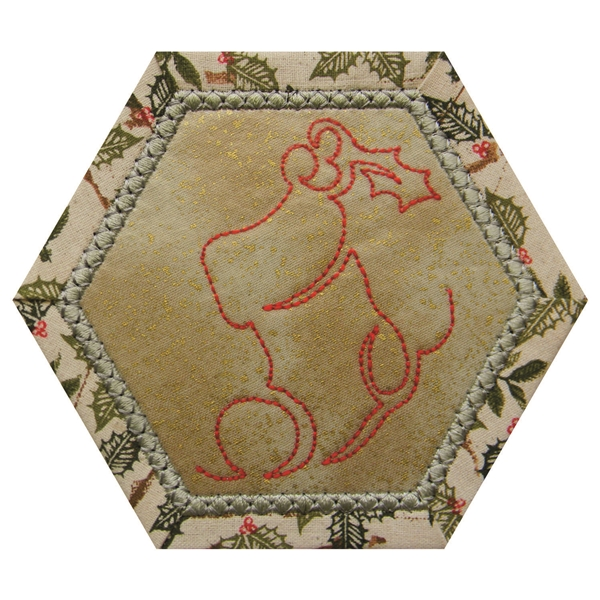Hexagon Placemat and Coasters - Small-14