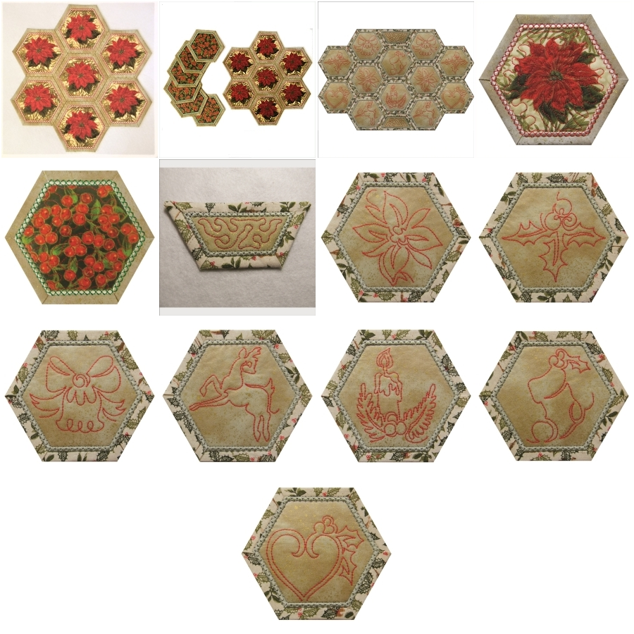 Hexagon Placemat and Coasters - Small