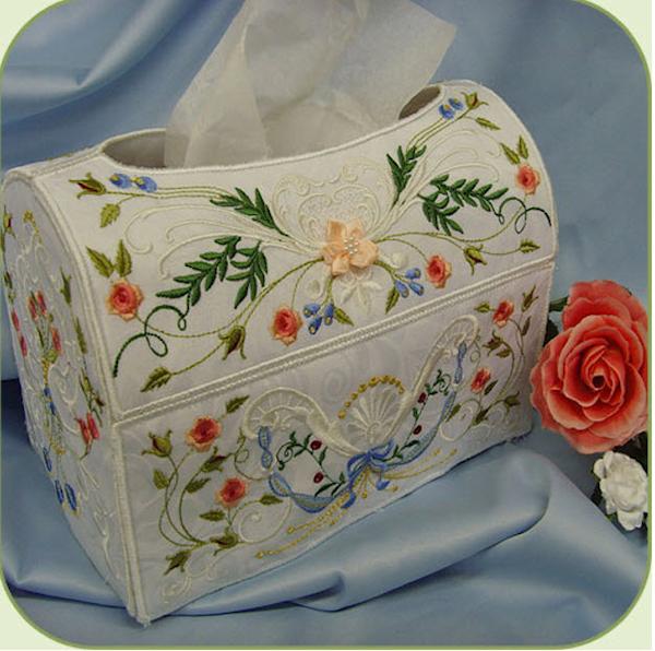 SD705 Heirloom Rose Tissue Box Cover-3