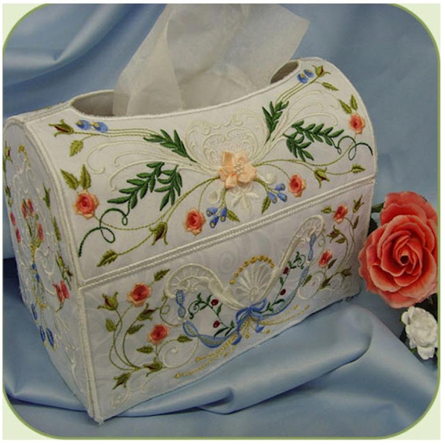 SD705 Heirloom Rose Tissue Box Cover