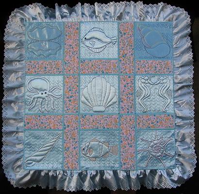 Trapunto Aqua Marine Quiltblocks-3