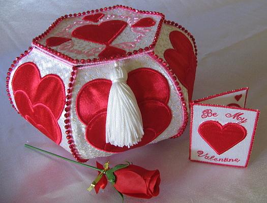 Trapunto Valentine Hearts-5