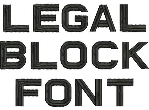 Legal Block Font -3