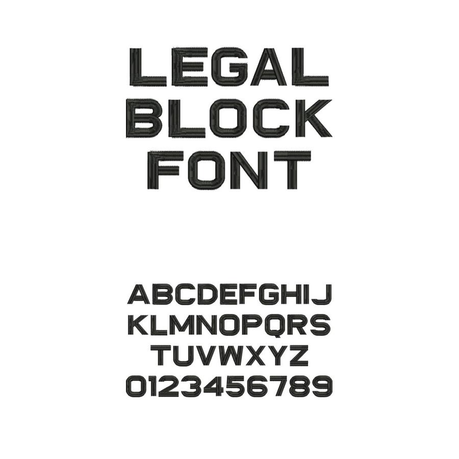 Legal Block Font