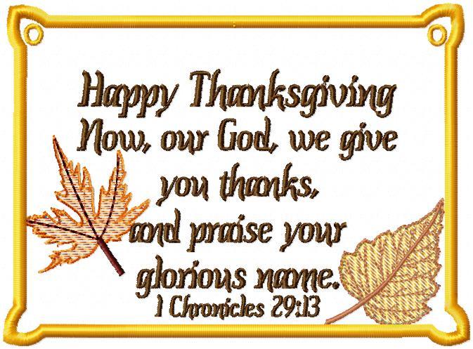 Cornucopia of Thanksgiving Dangler -4