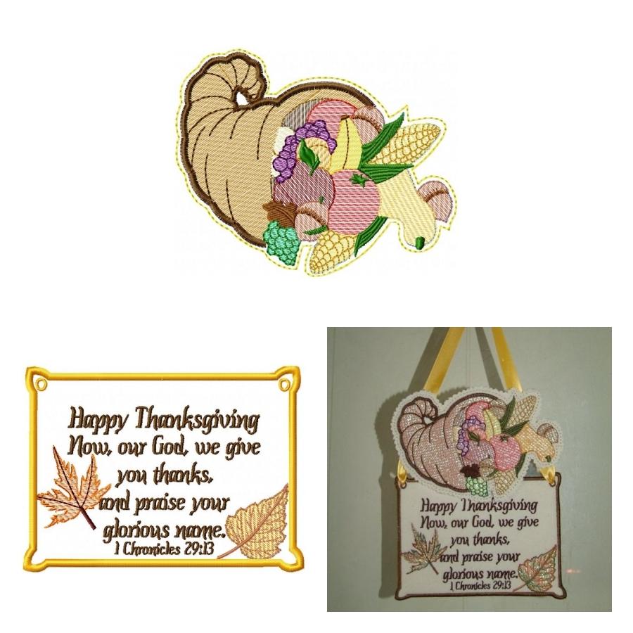 Cornucopia of Thanksgiving Dangler