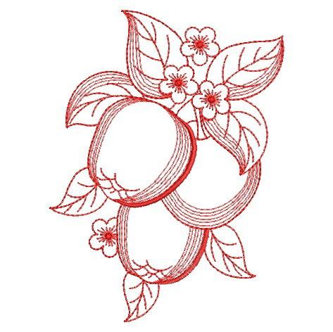 Redwork Fruit-3