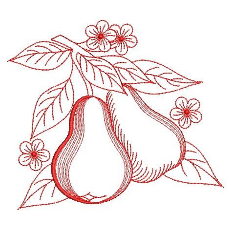 Redwork Fruit-4