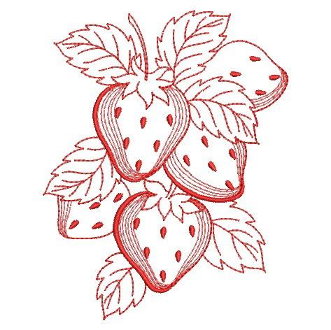 Redwork Fruit-5