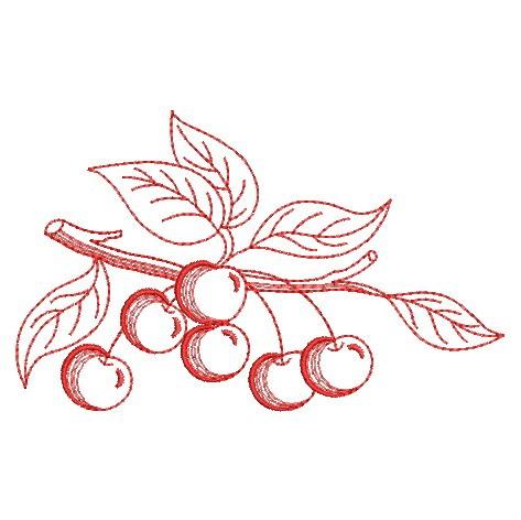 Redwork Fruit-7