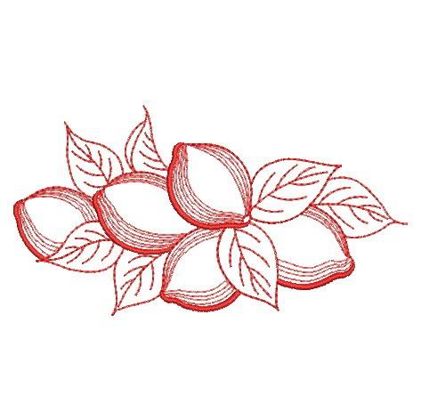 Redwork Fruit-8
