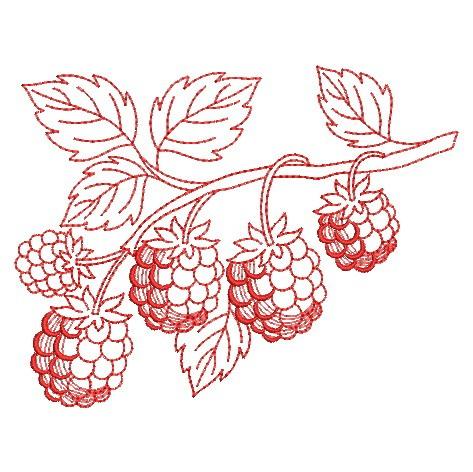 Redwork Fruit-9