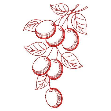 Redwork Fruit-10