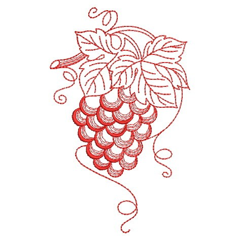 Redwork Fruit-11