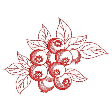 Redwork Fruit-12