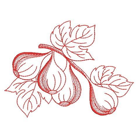 Redwork Fruit-15