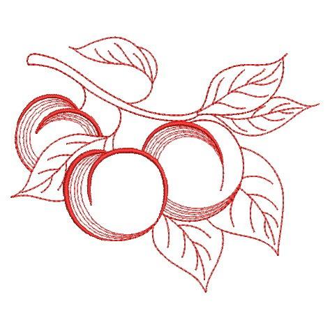 Redwork Fruit-16