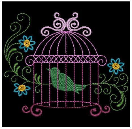 Colorful Birdcages Silhouette-7