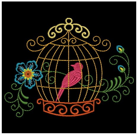 Colorful Birdcages Silhouette-8