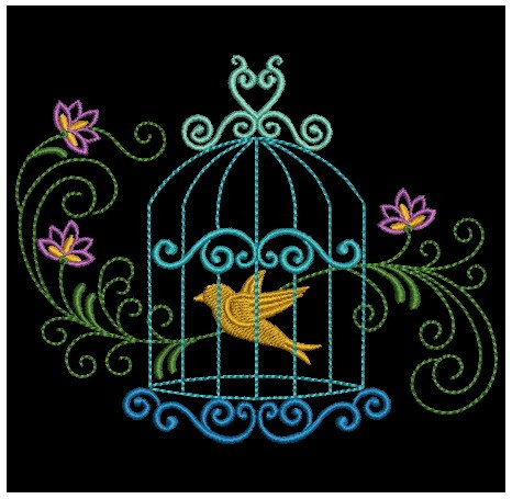 Colorful Birdcages Silhouette-9