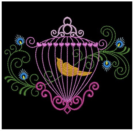 Colorful Birdcages Silhouette-12