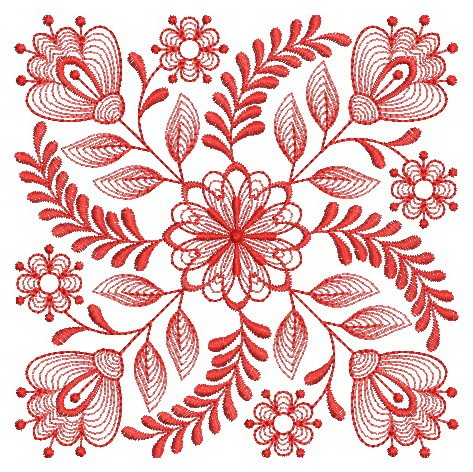 Redwork Baltimore Quilts 2-10