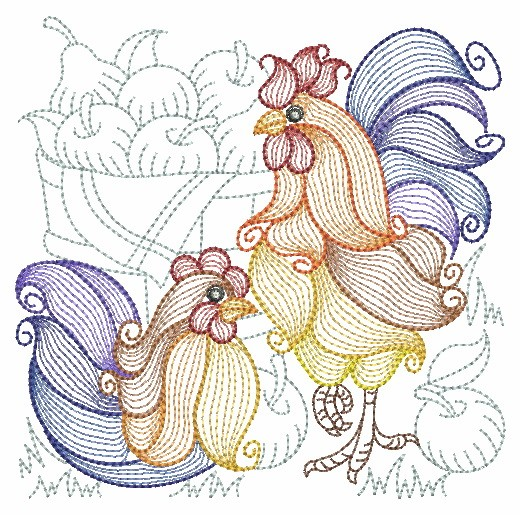 Rippled Roosters and Hens-5
