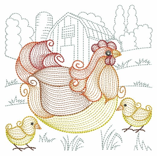 Rippled Roosters and Hens-9