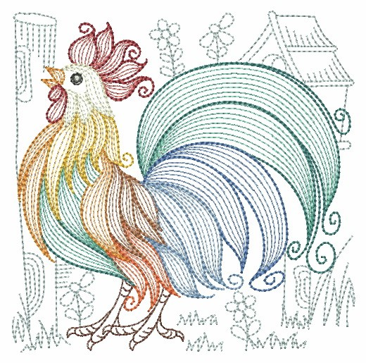 Rippled Roosters and Hens-10