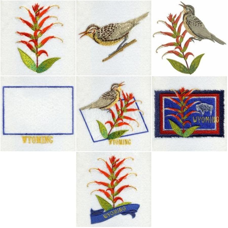 Wyoming Western Meadowlark Bird And Flower | OregonPatchWorks