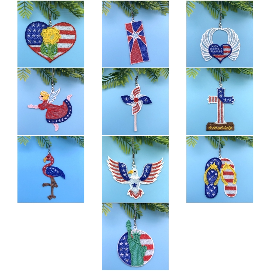 FSL 4th of July Ornaments