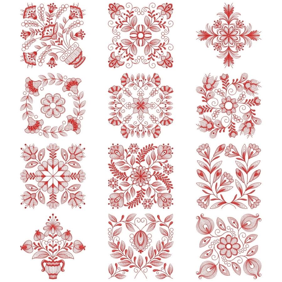 Redwork Baltimore Quilts 2