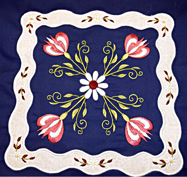 Floral Applique Quilt-3