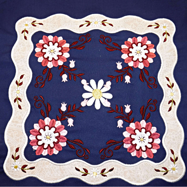 Floral Applique Quilt-5