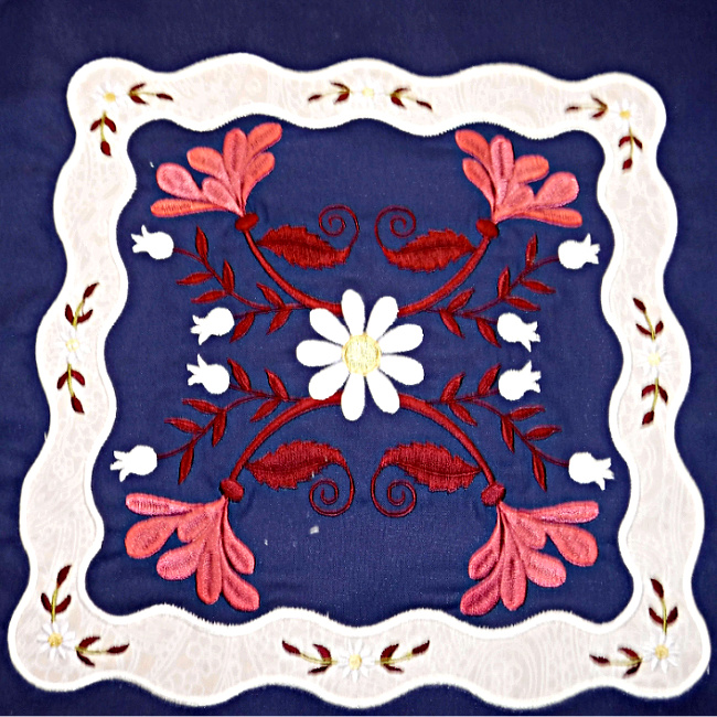 Floral Applique Quilt-6