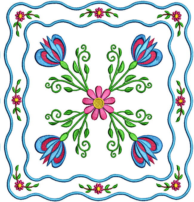 Floral Applique Quilt-7