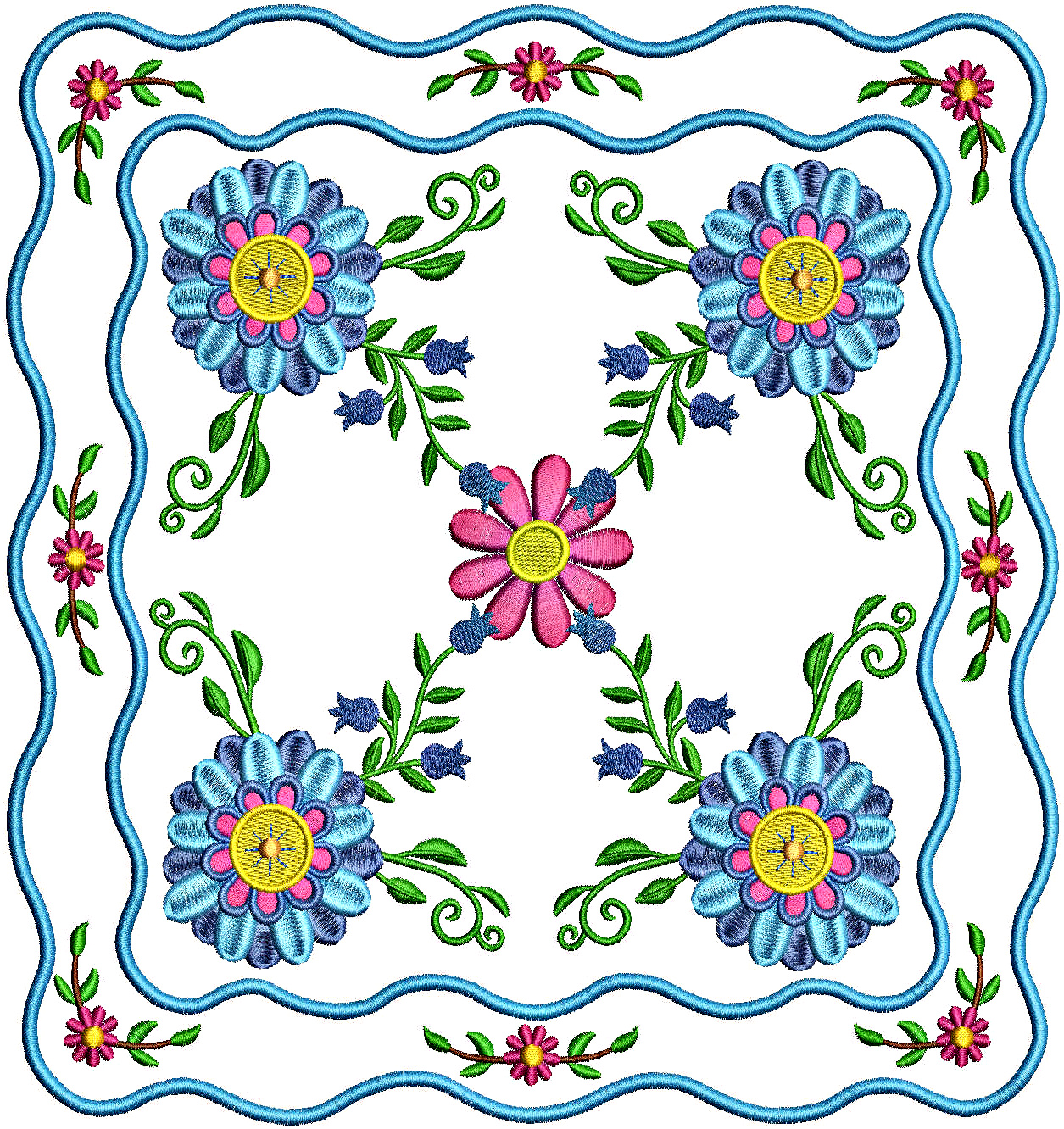 Floral Applique Quilt-8