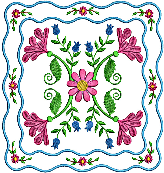 Floral Applique Quilt-9