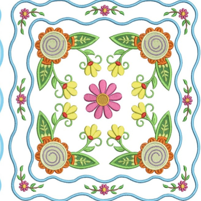 Floral Applique Quilt-14
