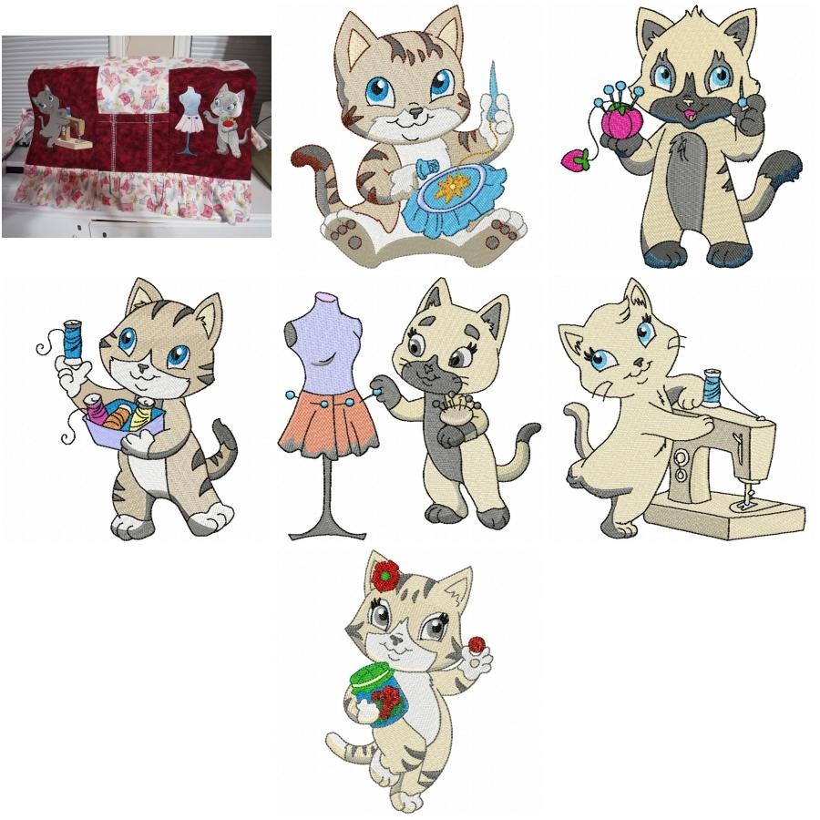 Sweet Little Sewing Kitties