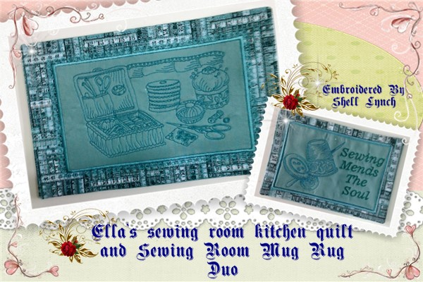 ITH Sewing Room Kitchen Quilt and Mug Rug