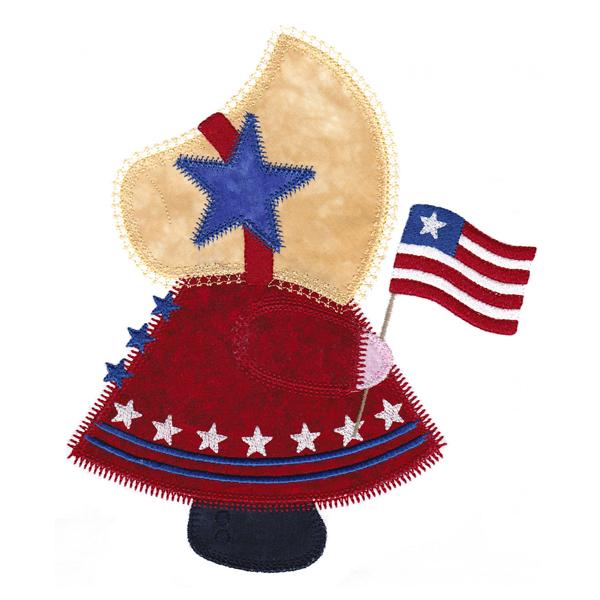 Patriotic Sunbonnet Sue