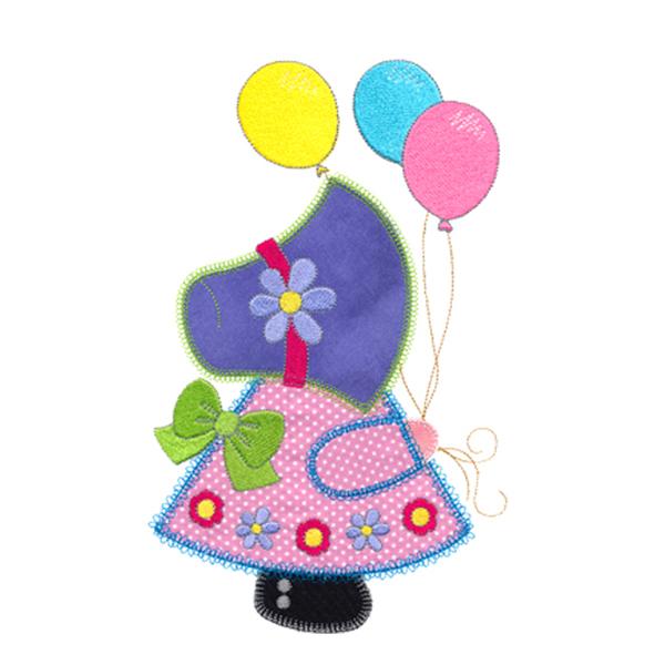 Balloon Sunbonnet Sue