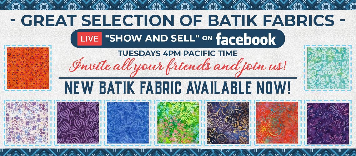 Batik Fabric at OPW Fabric Plus