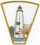 Christmas Lighthouse Bowl & Doily Set 2