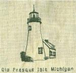 Michigan Lighthouse Redwork Set 1