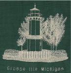 Michigan Lighthouse Redwork Set 2