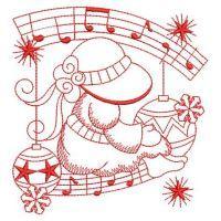 Redwork Christmas Sunbonnets 2