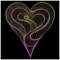 Rippled Neon Hearts