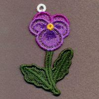 FSL Pansy Ornaments
